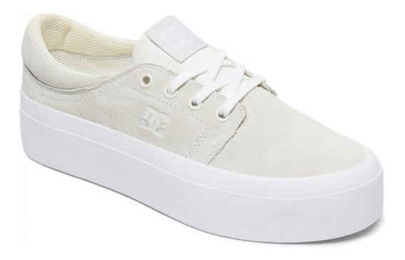 Zapatillas Dc Shoes Trase Plataforma Gris Claro 1192112140