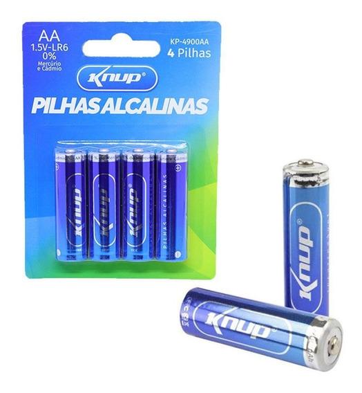 Pilha Alcalina Aa C/ 4 Kp-4900aa Longa Duração - Knup