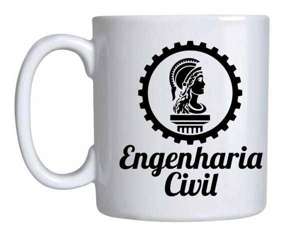 Caneca Engenharia Civil De Porcelana Presente Personalizado