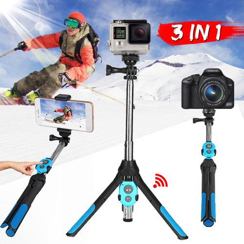 Monopé Extensível Selfie Vara Tripé Bluetooth Remoto Para Te