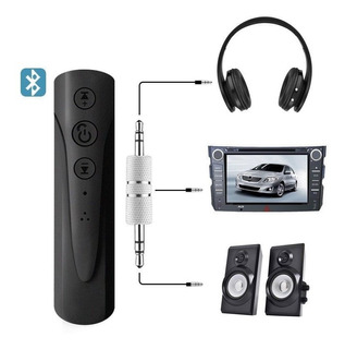 Receptor Bluetooth Auxiliar Con Mando Carro, Audifonos, Pc.