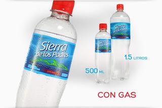 Agua Mineral Sierra De Los Padres 600ml Pack X12 Con Gas