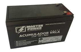 Bateria 12v 7ah Master Selada Fabricação Nacional