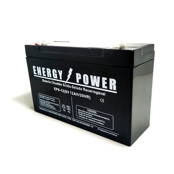 Bateria 6v 12ah Bandeirante Magic Toys Biemme Moto Elétrica