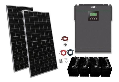 Imagen 1 de 9 de Kit Panel Solar Autonomo Isla 3000wh Diarios