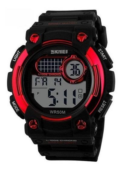 Relógio Masculino Skmei Digital Preto E Vermelho 1054