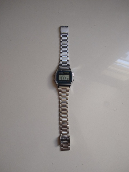 Relógio Casio Prata Original Unisex A158 Vintage