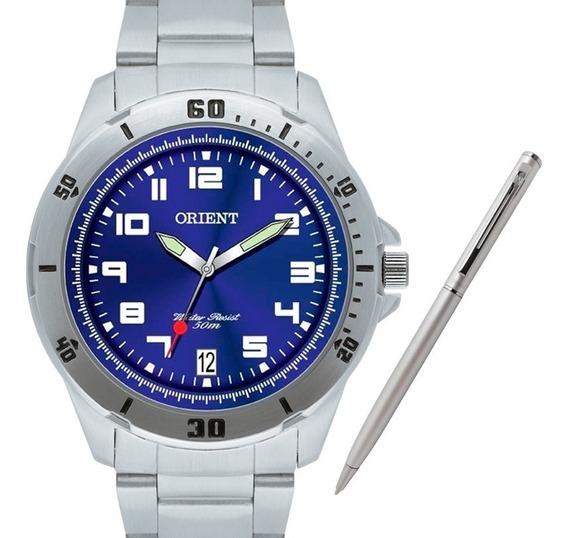 Relógio Orient Masculino Mbss1155a D2sx +brinde Caneta Crown