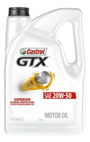 Aceite Castrol Multigrado Gtx 20w50 Garrafa 4.73+ Regalo
