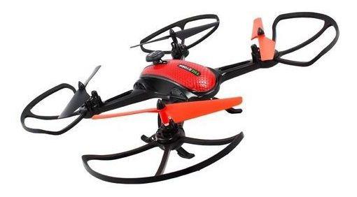 Drone Quadricoptero Espião Intruder Com Câmera Foto E Vídeo