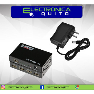 Splitter Hdmi De 4 Puertos 4k 2k 3d Full Hd 1080p
