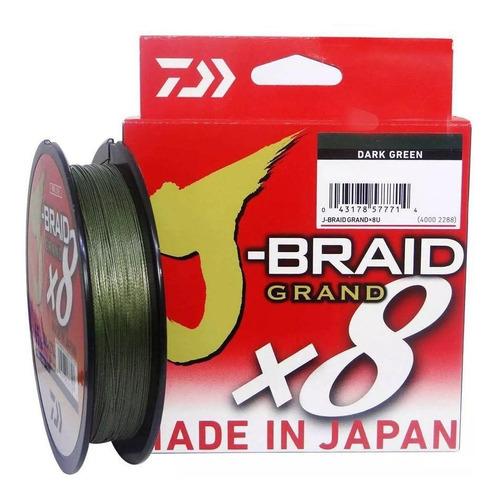 Imagem 1 de 1 de Linha Multifilamento Daiwa J-braid Grand X8 20lb 0,23mm 135m