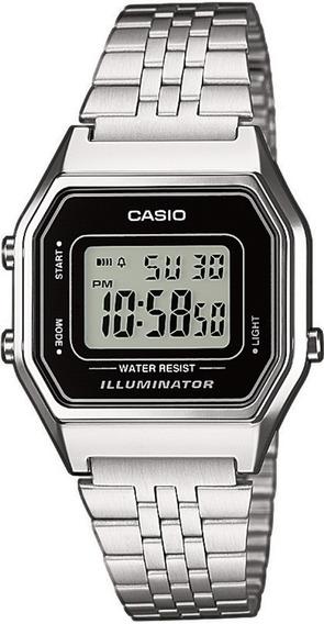 Relógio Casio Feminino La680 Prata Retro Vintage