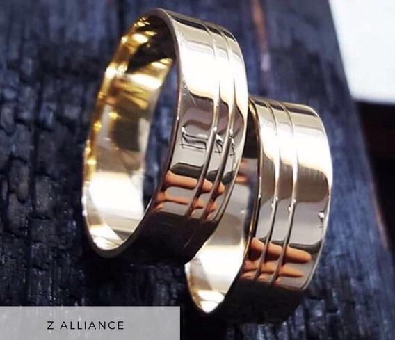 Alianças Modelo Scratch Em Ouro