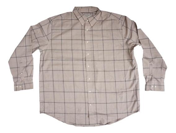 Camisa Casual St. Johns Bay 2xl Iron Free Big Mens Amplia