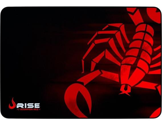 Mousepad Gamer Rise Mode Scorpion Red - Medio Bc