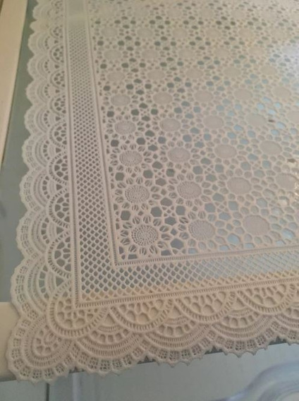 4 Toalhas De Geladeira Plástica Rendada Destacável Le Bianco