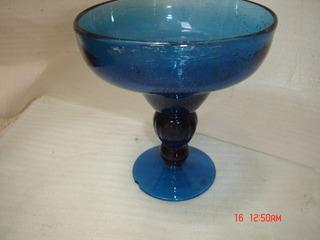 Decoração Antiga Compoteira Bomboniere Vidro Azul Cobalto