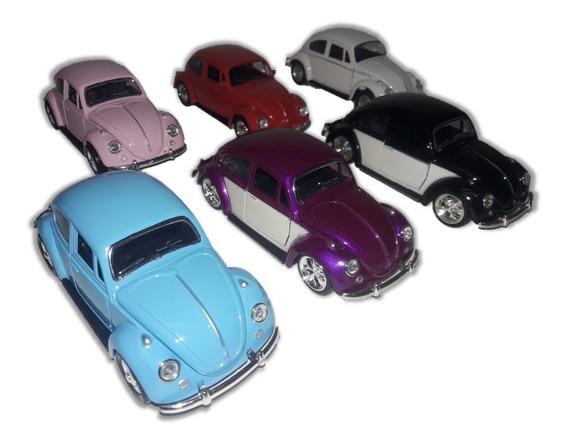 Miniatura Carro Volkswagen Fusca Clássico Escala 1/32 Cores