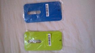 Capa Trazeira Moto G3, Kit Com Duas Verde E Azul