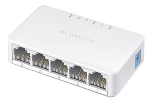 Imagen 1 de 1 de Tp-link Mini Switch 5 Puertos Rj45 Mercusys Ms105 10/100 Mbp