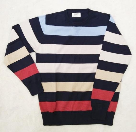 Sweater De Hilo Rayado De Hombre. Varias Combinaciones