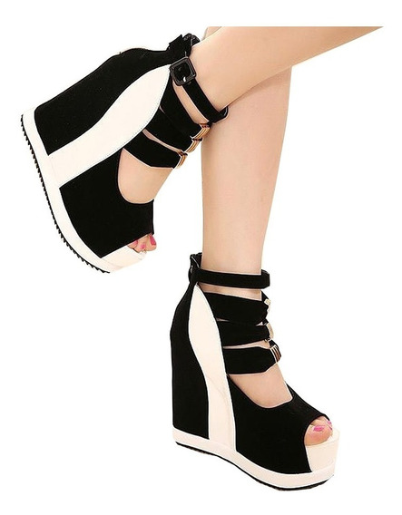 Zapatos Sandalias Mujer Plataforma De Goma