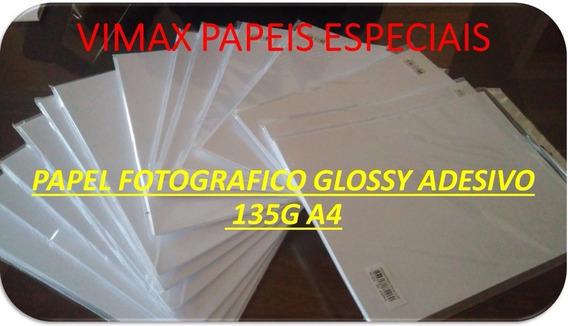 500 Fls Papel Fotográfico Adesivo A4 80 Gr À Prova D´água