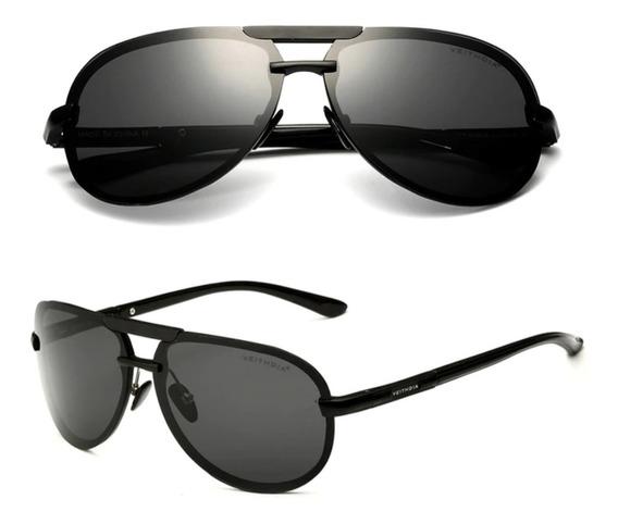 Óculos De Sol Aviador Feminino Masculino Polarizado Uv400 Original Anti Reflexo Unissex Original 6500