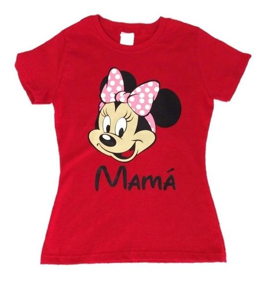Playera Mickey Mouse Mimí Personalizada Fiesta De Cumpleaños