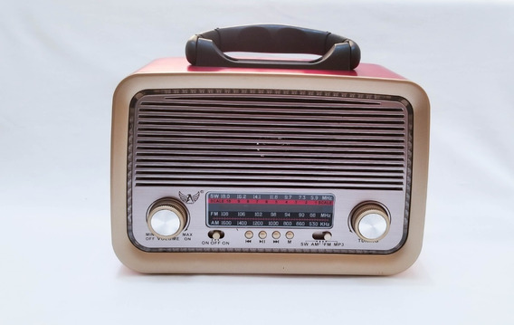 Radio Retrô Bluetooth A3199bt Vintage Fm Am Sd Usb Antigo