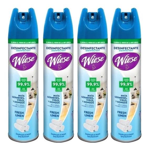 4 Desinfectante Aerosol Spray Antibacterial Wiese Virus /i