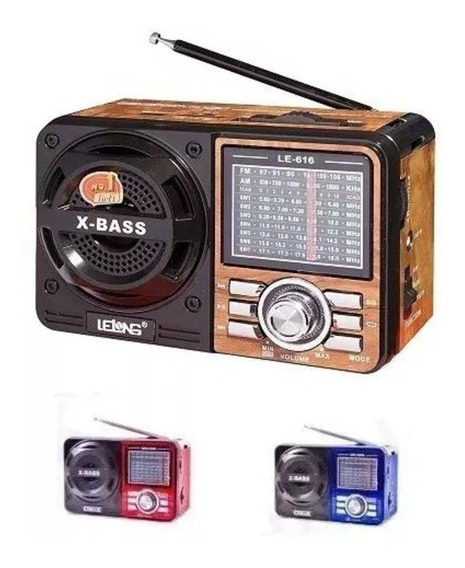 2 Rádio Portátil Mp3 Usb Cartão Sd Pen Drive Am/fm Mod: 108