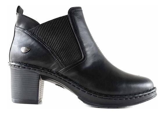 Botineta Mujer Cuero Cavatini Bota Zapato Confort Mcbo24907