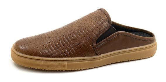 Sapatilha Babuche Sapato Mule Masculino Collection Em Couro