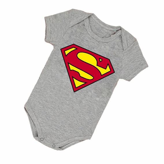 Body Infantil Bebê Frete Grátis Superman Bori Herói B002cz