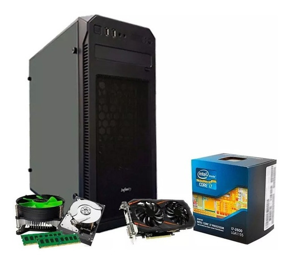 Pc Gamer Intel I7, 16gb, 1tb, Geforce 1050ti4gb Gtx + Nfe