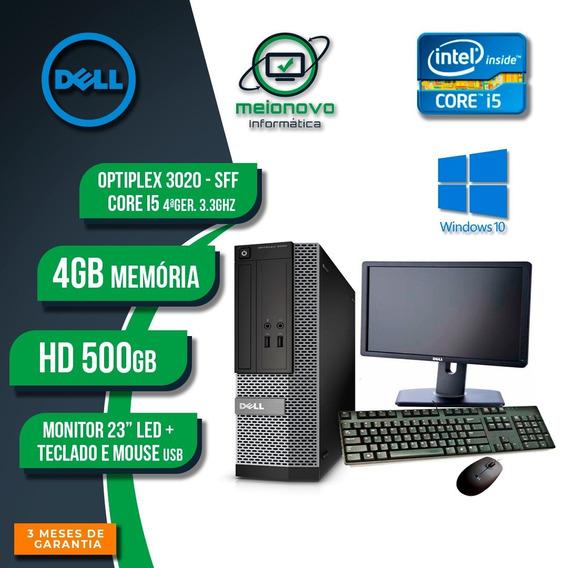 Desk Dell Optiplex 3020 Sff - I5 3.3g 4g 500g + Monitor 23