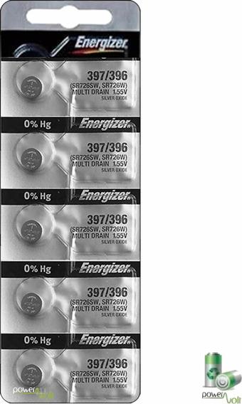 Bateria Energizer 397/396 Sr59 Sr726sw | Cart. C/5 Pilha
