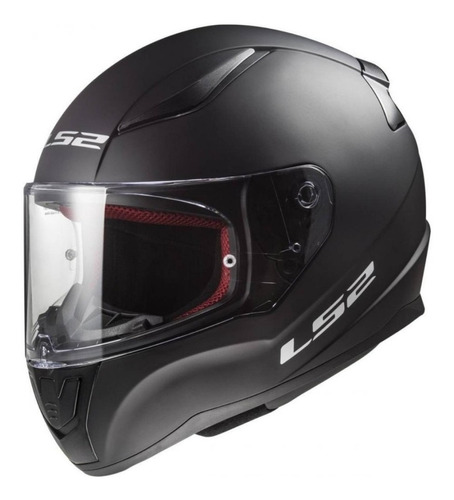 Imagen 1 de 7 de Casco Integral Ls2 Rapid Para Moto Negro Mate Seguridad Euro