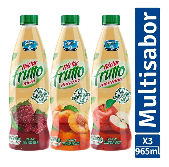 Néctar Frutto Familiar X 3 - L a $1589