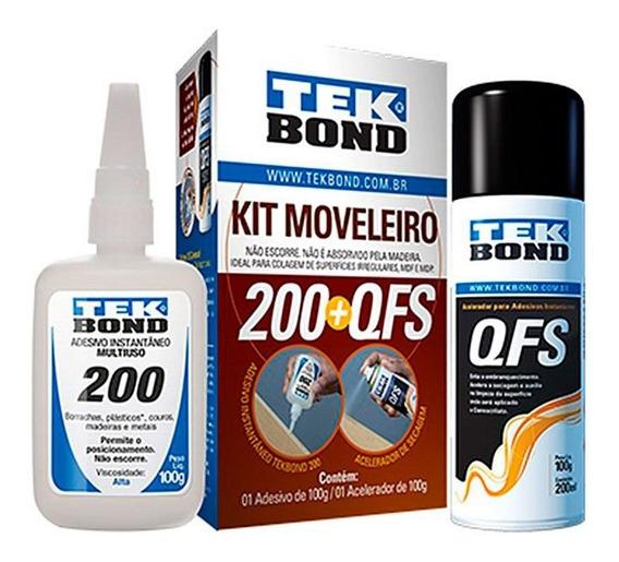 Adesivo Instantâneo - Kit Mdf / 100g -tekbond