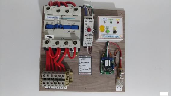 Sist. Tranf. Solar E Rede 110v 40a Inversor Fica Ligado.