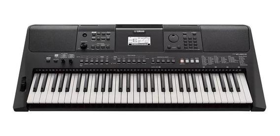 Teclado Arranjador Yamaha Psr-e463 61 Teclas Com Fonte