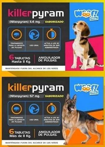 Pastillas Killerpyram Aniquilador De Antipulgas Woof