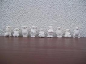 Lote Com 9 Ursos Borracha Miniatura - Minimania Coca Cola