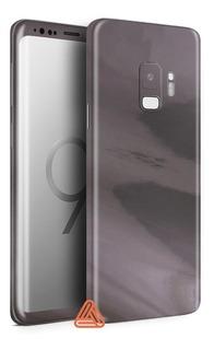 Skin Adesivo Avery Capa Grafite Cromado Samsung Galaxy S9