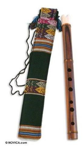 Novica Madera Quena Flauta, Jacarandaparent 97696p