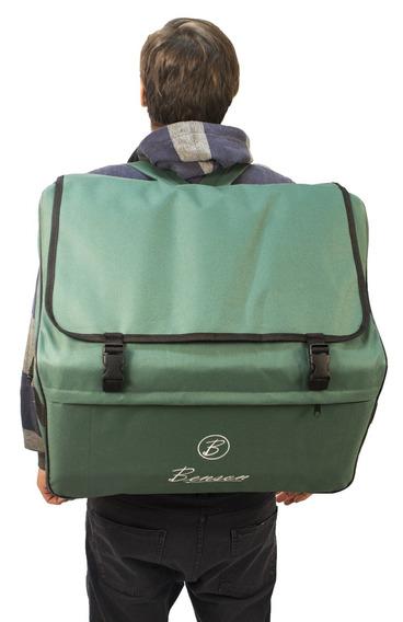 Acordeao 80 Baixos Benson Bac80-7prd Vermelho Bag E Case