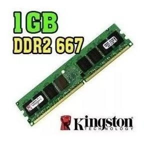 Memória Kingston Ddr2 1gb 667 Mhz Pc2-5300 Kvr